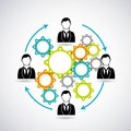 Avatar gears icon. Businesspeople design. Vector graphic