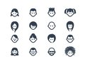 Avatar icons set of and user isolated on white Royalty Free Stock Image