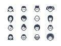 Avatar icons 2 Royalty Free Stock Photo