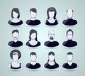 Avatar icons vector ilustration background Stock Photo