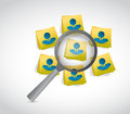 Avatar people on post message under review Royalty Free Stock Photo