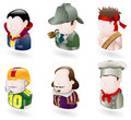 Avatar people web icon set Royalty Free Stock Images