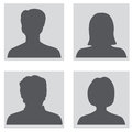 Avatar set people profile silhouettes collection Royalty Free Stock Photography