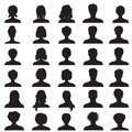 Avatar set people profile silhouettes collection men and women portrait Royalty Free Stock Photography