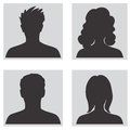 Avatar set people profile silhouettes men and women collection Stock Image