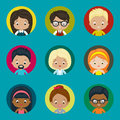 Avatar vector icons set for website. Royalty Free Stock Photo