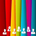 Avatar vertical irregular stripes people group profile picture Royalty Free Stock Photos