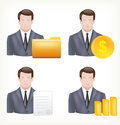 Avatars of a male and in business suits. Royalty Free Stock Photo