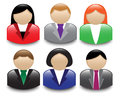 Avatars office workers set of shiny of different sexes Stock Photo