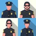 Avatars of police officer