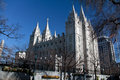Avbilda av det salt lake city lds mormontempelet Royaltyfri Bild