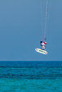 Avdimou cyprus greece july kite surfing at avdimou beach on unidentified man Royalty Free Stock Image