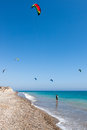 Avdimou cyprus uk july learning to kite surf in avidmou on unidentified people Royalty Free Stock Photos