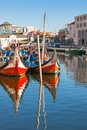 Aveiro gondolas aveiro city aveiro municipality portugal Royalty Free Stock Photos