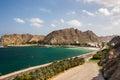 Avenida costera en muscat omán Fotografía de archivo libre de regalías