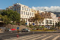 Avenida do Mar street with road signs and light traffic Royalty Free Stock Photo