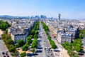 Avenue charles de gaulle paris seen from the arc triomphe Royalty Free Stock Image