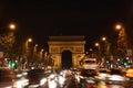 Avenue des Champs-Élysées in Paris at night