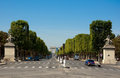 The avenue des champs élysées on july in paris Royalty Free Stock Image