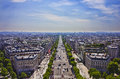 Avenue des champs elysees paris the france Royalty Free Stock Photography