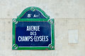 Avenue Des Champs-Elysees Street Sign Royalty Free Stock Photos