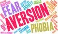 Aversion Word Cloud Royalty Free Stock Photo