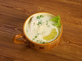 Avgolemono or egg lemon mediterranean sauces and soups made with and Royalty Free Stock Images