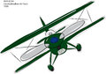 Avia B.534 Biplane Sketch Stock Photos