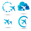 Avia icons set of vector Stock Photos
