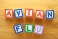 Avian flu toy block Royalty Free Stock Photo