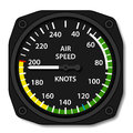 Aviation aircraft airspeed indicator illustration for the web Royalty Free Stock Images