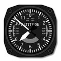 Aviation airplane altimeter Royalty Free Stock Photo