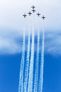 Aviation day patrulla ã guila spanish aerobatic group on the airshow siaf slovakia sliac Royalty Free Stock Photography