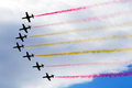 Aviation day patrulla ã guila spanish aerobatic group on the airshow siaf slovakia sliac Royalty Free Stock Photo