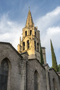 Avignon belfry vaucluse provence alpes cote d azur france historic and cypress Royalty Free Stock Photo