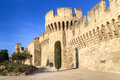 Avignon Medieval City Wall Royalty Free Stock Photos