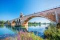 Avignon old bridge in Provence, France Royalty Free Stock Photo