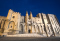 Avignon palais des papes by night vaucluse provence alpes cote d azur france palace of the popes Stock Image