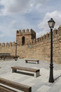 Avila catholic cathedral of in castilla leon in spain Royalty Free Stock Photo