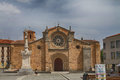 Avila catholic cathedral of in castilla leon in spain Royalty Free Stock Images