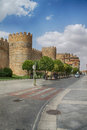 Avila catholic cathedral of in castilla leon in spain Stock Photos