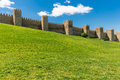 Avila. Detailed view of Avila walls, also known as murallas de avila Royalty Free Stock Photo