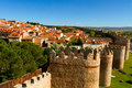 Avila scenic medieval city walls of spain unesco list Royalty Free Stock Photos