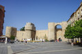 Avila, Spain - August 23, 2012: Gate Puerta del  Alcazar of the Royalty Free Stock Photo