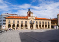 Aviles city hall building asturias spain march view of in on march is a town located in in the north of Royalty Free Stock Photos