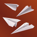 Avion de papier d'origami Photographie stock