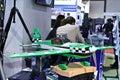 Avion modèle de banc d'essai Image libre de droits