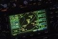 Avionics instrumentation panel on helicopter board Royalty Free Stock Photos