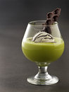 Avocado float delicious and tasty dessert called Royalty Free Stock Photo