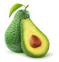 Avocado fresh over white background Royalty Free Stock Photography